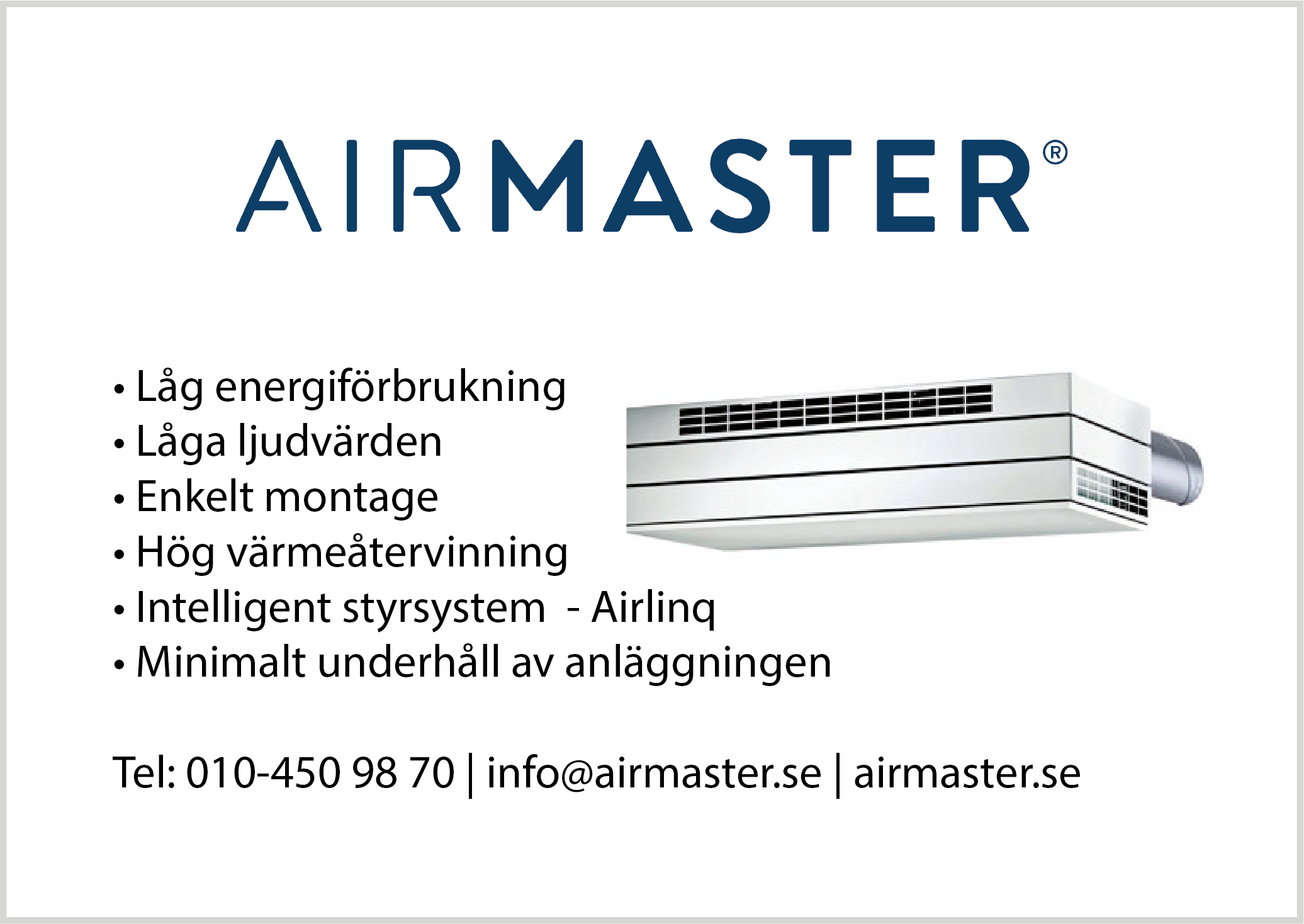 Airmaster-annons