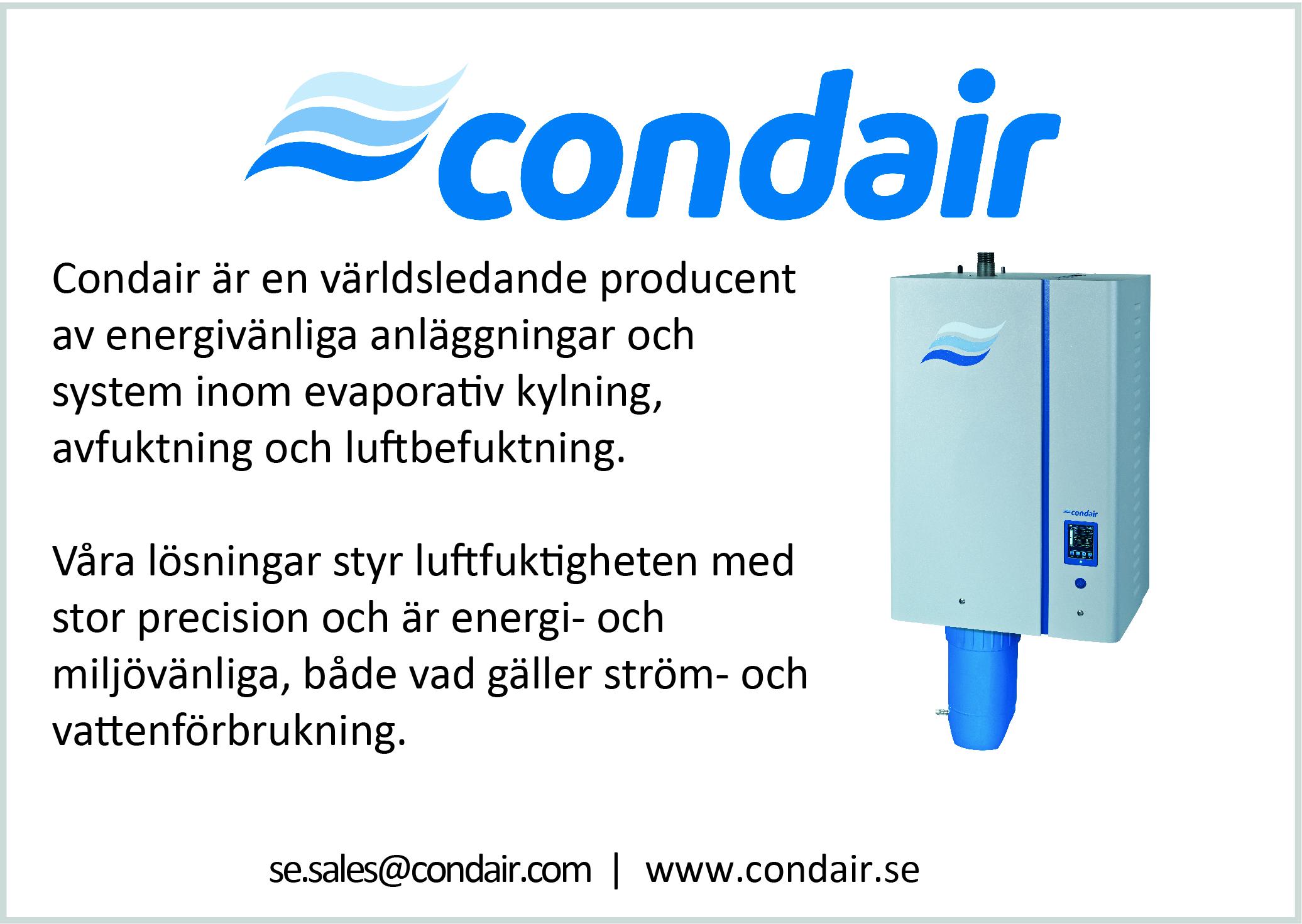 Condair-annons